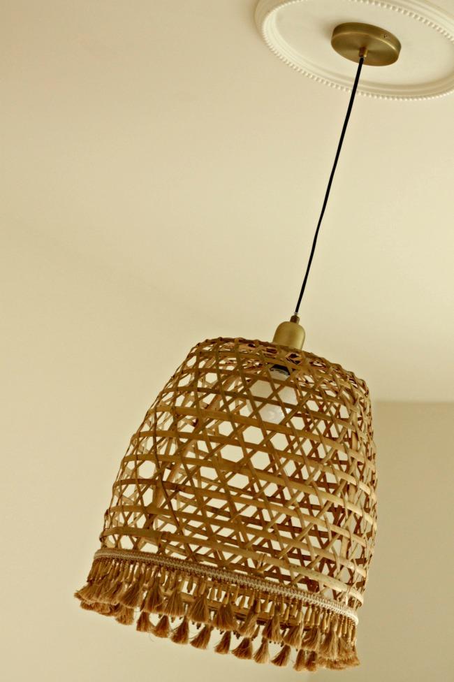 basket light pendant with trim