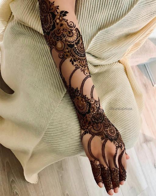 Modern Leg Chain Mehndi Design Cute Mehndi Design