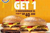 Promo BURGER KING Buy 1 Get 1 Terbaru 17 Agustus 2019