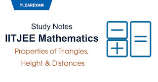Properties of Triangles, Height & Distances