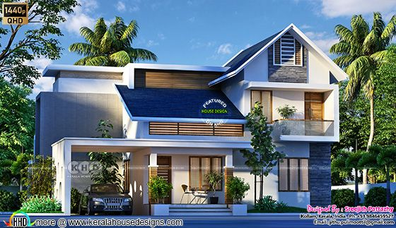 3 BHK house architecture plan
