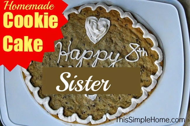 Enjoyable Giant Cookie Cake Birthday Cake Alternative This Simple Home Funny Birthday Cards Online Necthendildamsfinfo