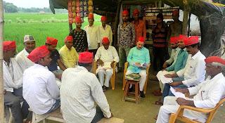 सपा नेता अजय त्रिपाठी ने कार्यकर्ताओं के साथ की बैठक | #NayaSaberaNetwork