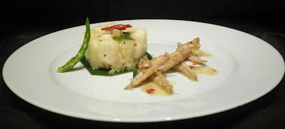 fine dining indian picture of tapioca fish curry kerala style recipe