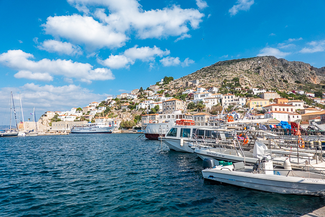 Port of Hydra Greece