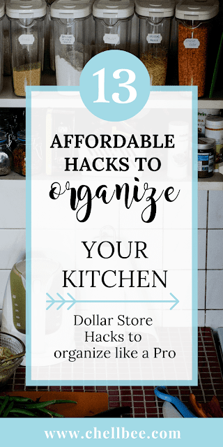 Organization Hacks | These tips will help you to organize your kitchen like a pro. pantry organization | fridge organizaton | organization ideas | organize kitchen cabinets | organized fridge | drawer organization #diy #storage #organizationideas #organizing #dollartree