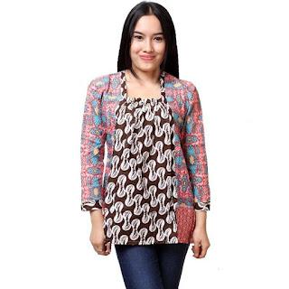 Foto Model Batik Kerja Wanita Lengan Panjang