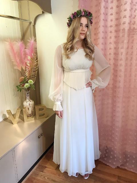 Vintage 1970's boho wedding dress
