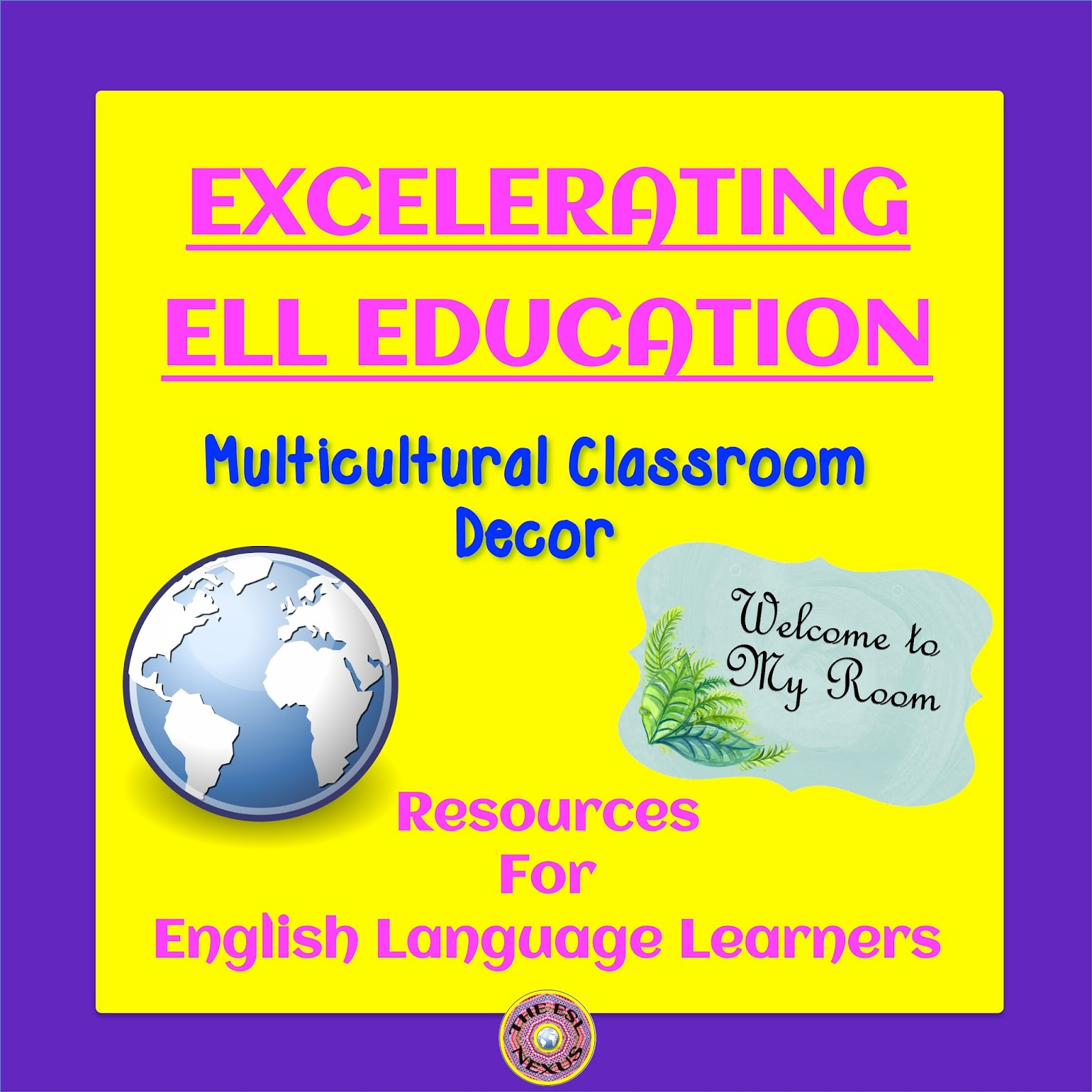 Add your multicultural classroom decor materials to the August ELL Excelerating linky party & find resources for your own classroom, too. | The ESL Connection