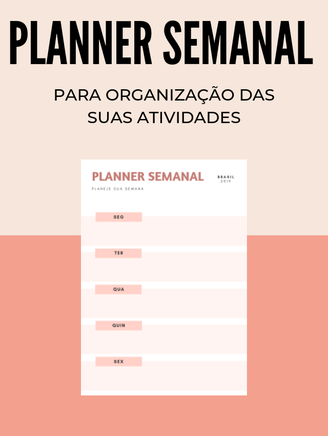 Download - Planner Semanal para Organização