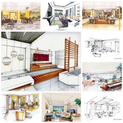 Apuntes revista digital de arquitectura bocetos a mano - Arquitectura o diseno de interiores ...