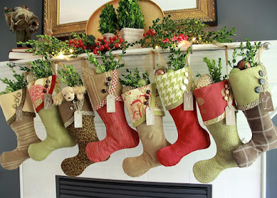 christmas stockings fireplace