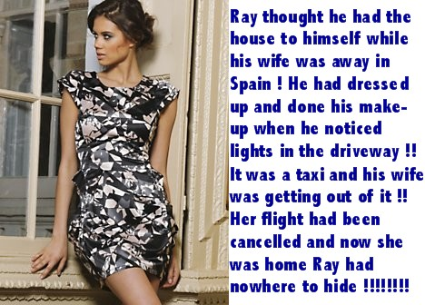 Nowhere to hide - Sissy TG Caption