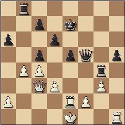 Partida de ajedrez Rey Ardid vs. Medina, posición después de 30…c5