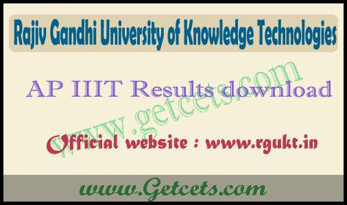 AP IIIT results 2021-2022, Rgukt merit list pdf download @www.rgukt.in