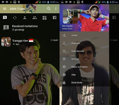BBM Mod Transparan Duta Sheila On 7 v3.2.0.6 APK
