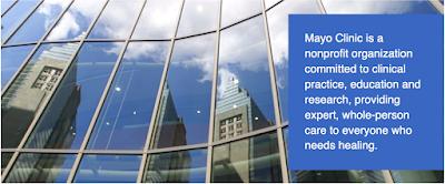 Mayo Clinic web site header