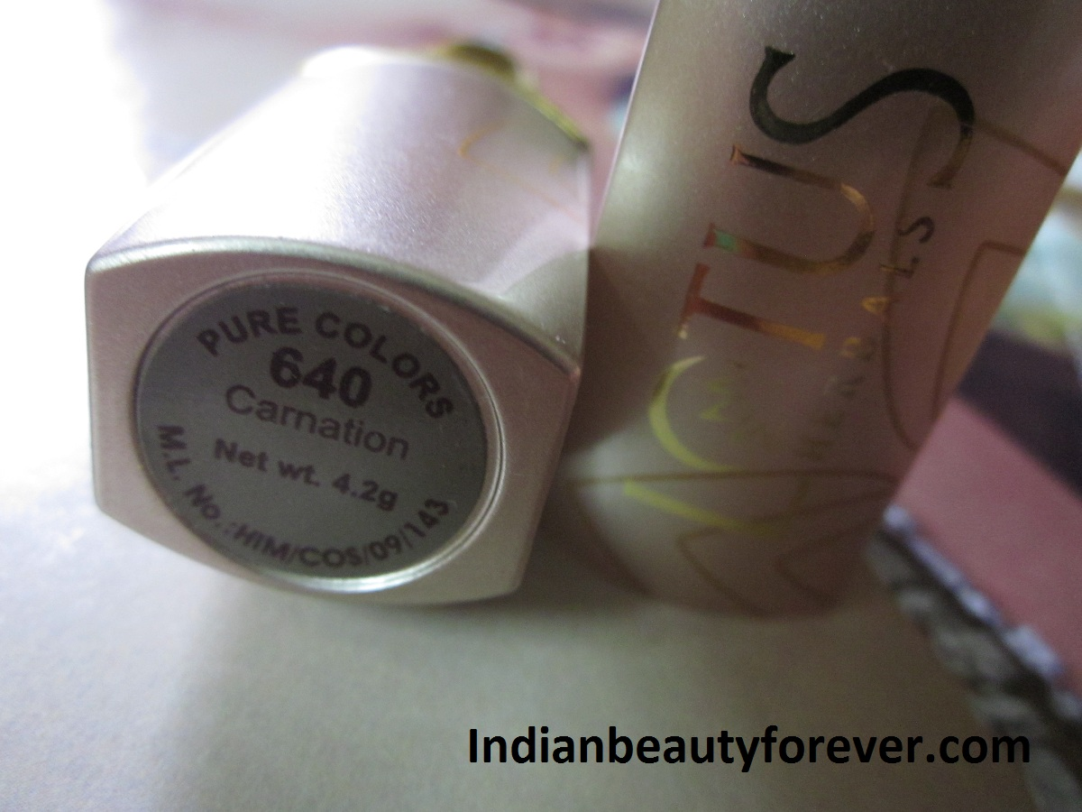 Lotus herbals Pure Color Lipstick Carnation Review