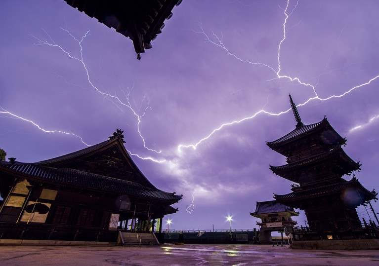 Japanese Scientists Researching The Lightning Mystery