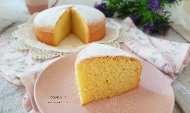 Torta soffice con farina di riso, senza burro e senza lattosio