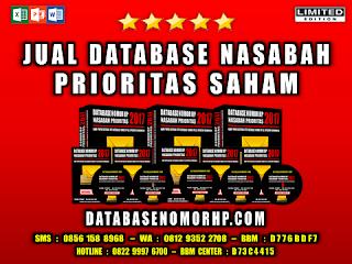 Jual Database Nasabah Prioritas Pemain Saham