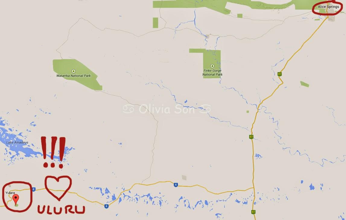 Carte Uluru, Australie