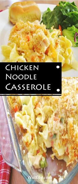Chicken Noodle Casserole Recipe #Chicken #Noodle #Casserole