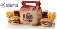 Promoção Burger King Senior Whopper