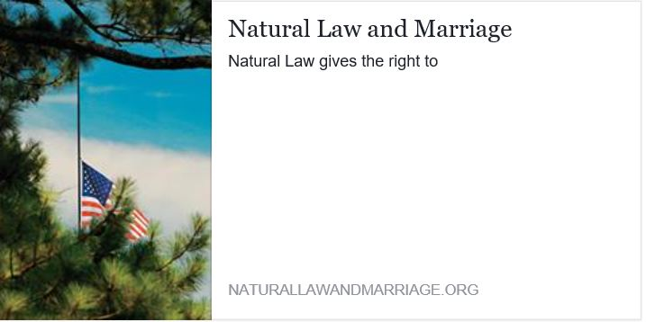 Natural Law and Marriage