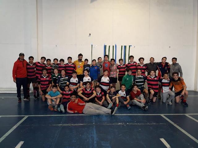 Nuevo encuentro de Rugby Tag de M14 en Ushuaia