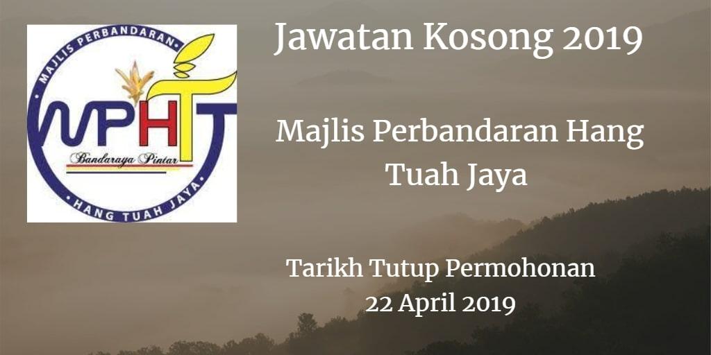 Jawatan Kosong MPHTJ 22 April 2019