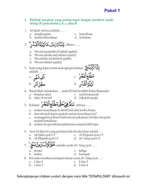 Download Soal Uts Ganjil Pendidikan Agama Islam Kelas 6 Semester 1 2015 2016 Rief Awa Blog