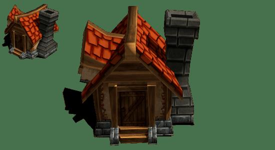 Models Casa 3D estilo fantasy diseñado en Blender