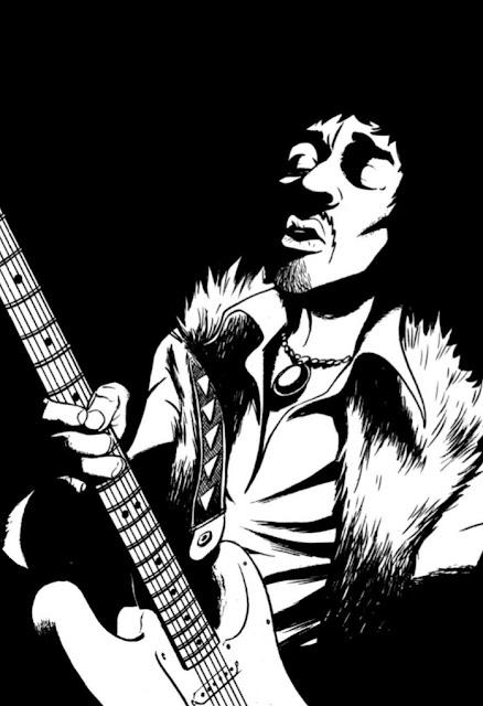 Jimi Hendrix Requiem Electrique aux éditions Graph Zeppelin page 111