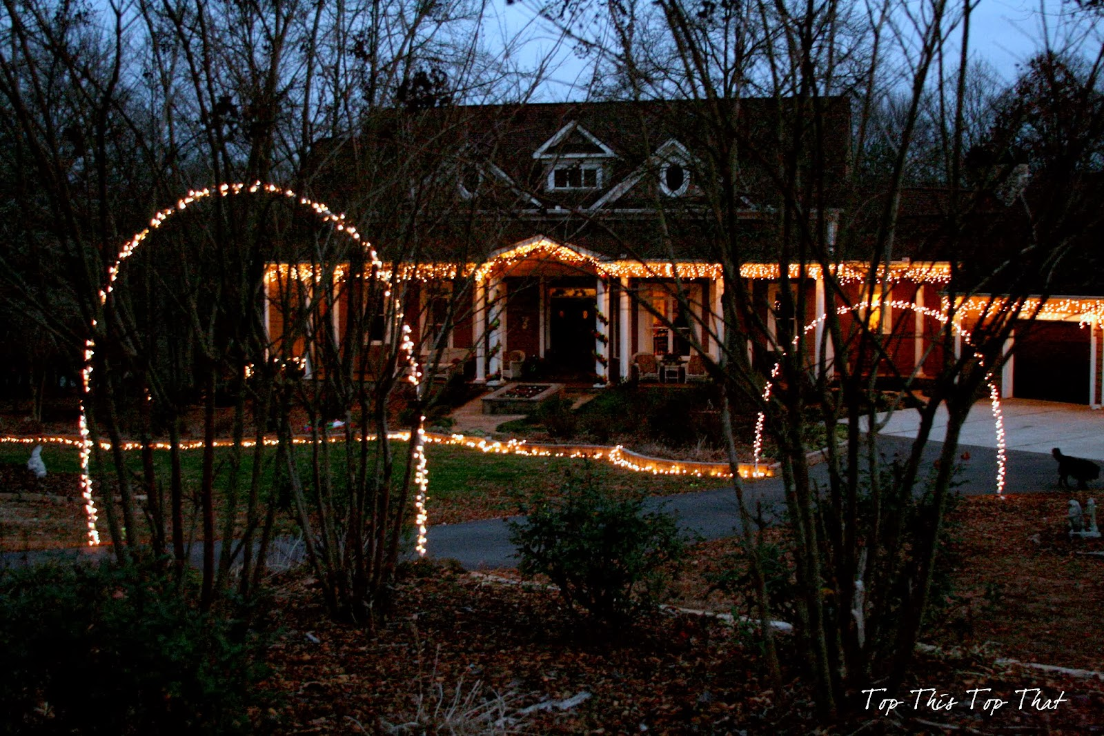 Outdoor Holiday Lighting Ideas - Duke Manor Farm