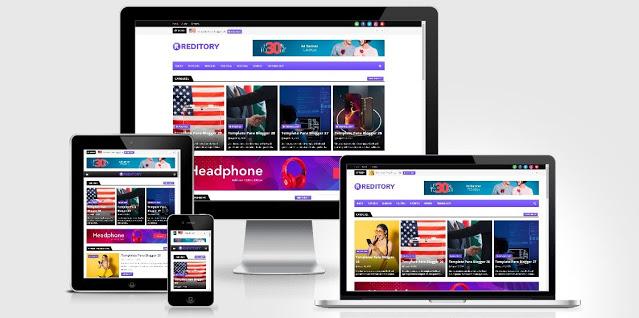 Reditory template de blog de notícias e revistas