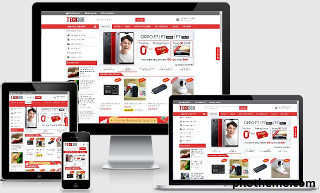 Theme wordpress bán hàng điện máy giống TECH 360