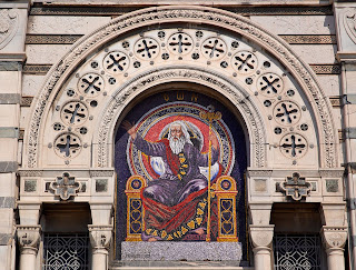 The mosaic at the main entrance