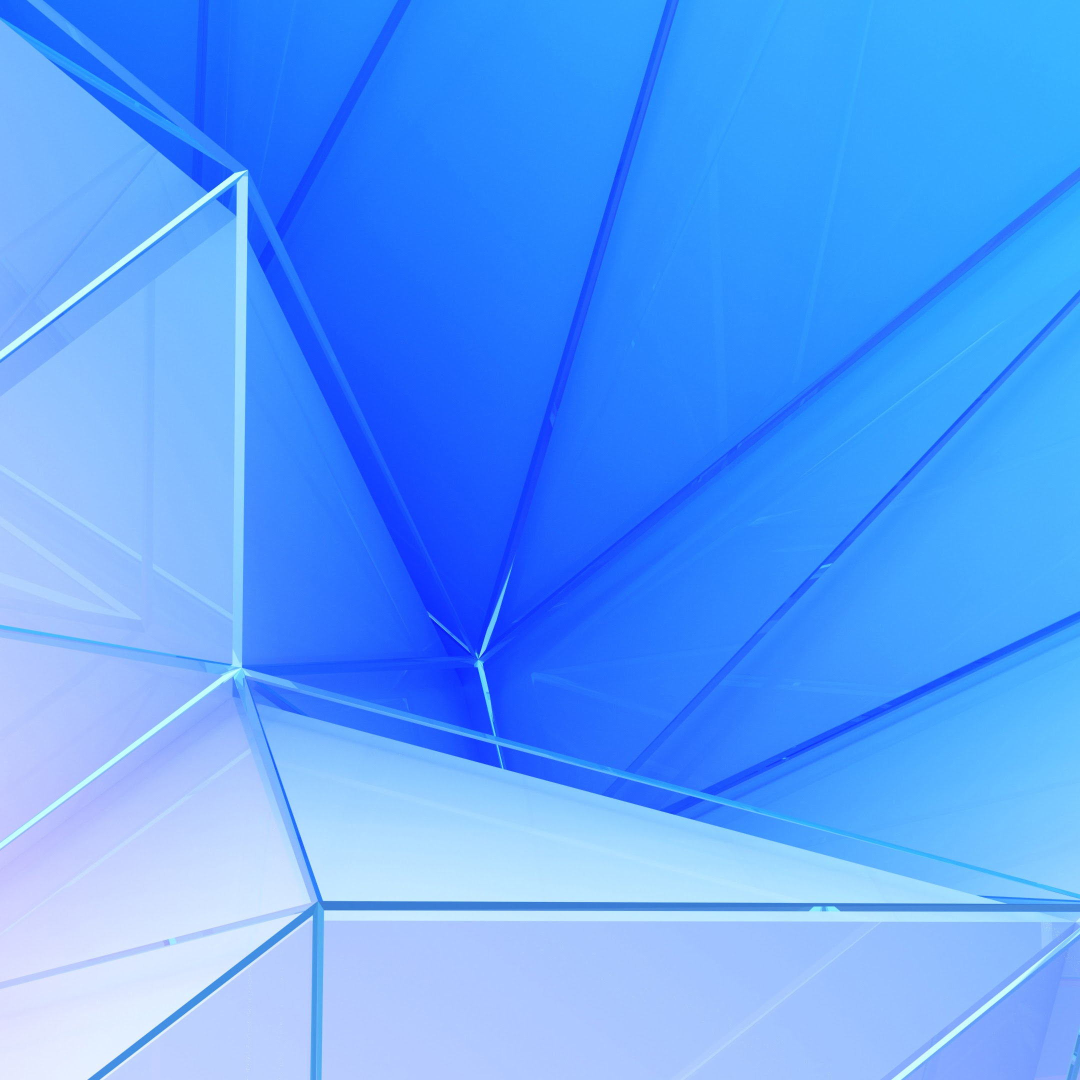 Polygon, Blue, Color, Abstract, 4K, #43 Wallpaper