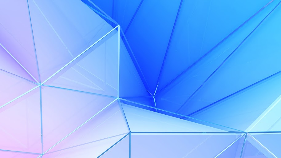 Polygon, Blue, Color, Abstract, 4K, #43