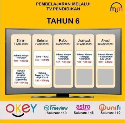 Jadual Program TV Pendidikan Di TV Okey (UPSR, PT3 & SPM)