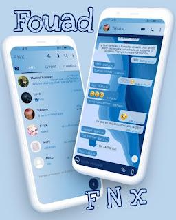 Blue Apple Theme For YOWhatsApp & Fouad WhatsApp By Ave fénix