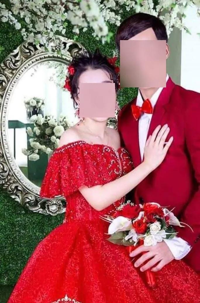 Hình cưới giữa anh P. và chị T. Ảnh do gia đình bên chồng chị T. cung cấp