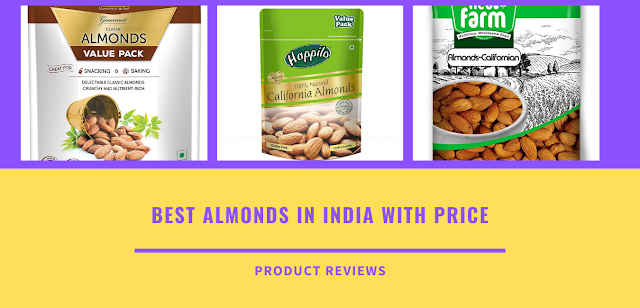 Best almond in India with price good for diabetes, weight loss, heart, cholesterol, skin, brain - best quality Badam Brands in India buy online on Amazon with the lowest price