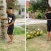 Dua lelaki kena ikat di pokok kelapa kerana curi buah kelapa