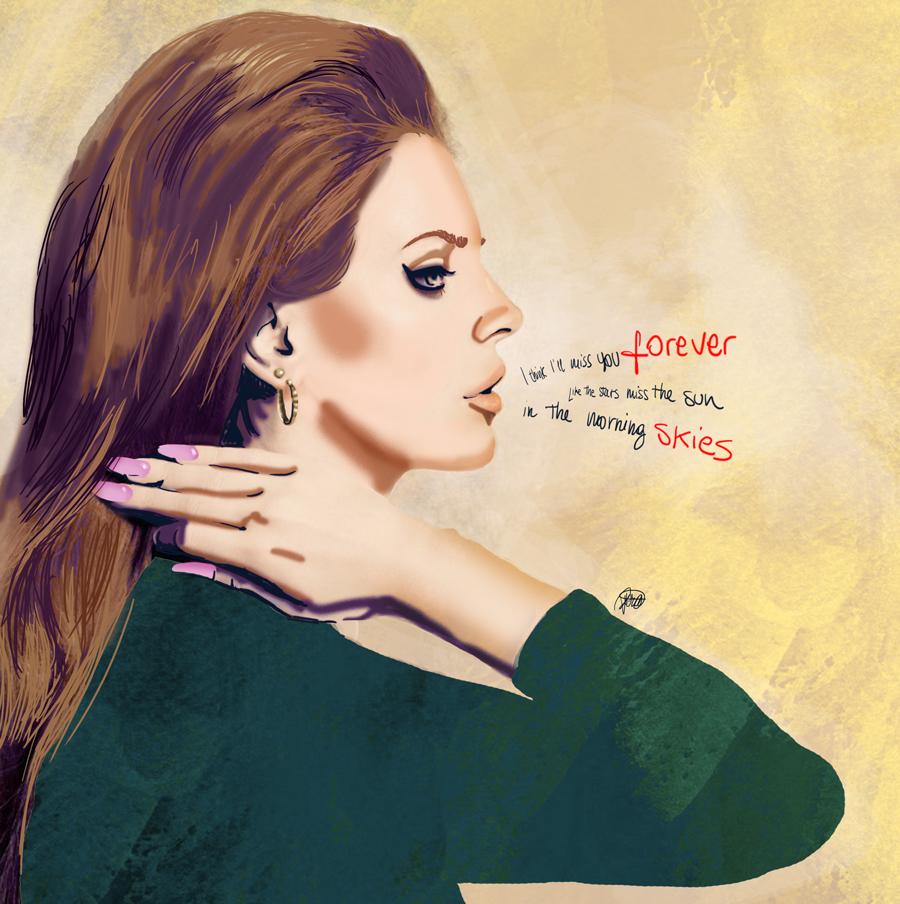 34 Lana Del Rey Summertime Sadness Illustration Lightlab