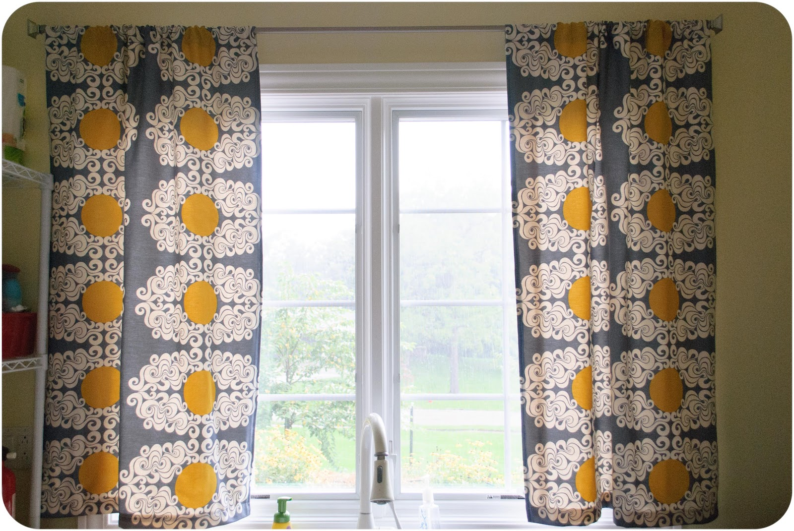 Laundry Room Lined Curtains