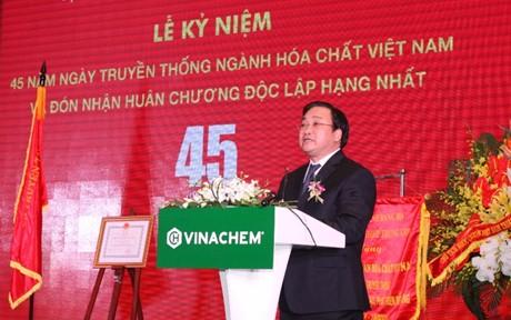 Phó Thủ tướng Hoàng Trung Hải tới dự và phát biểu tại buổi lễ. Ảnh: VGP/Nguyên Linh