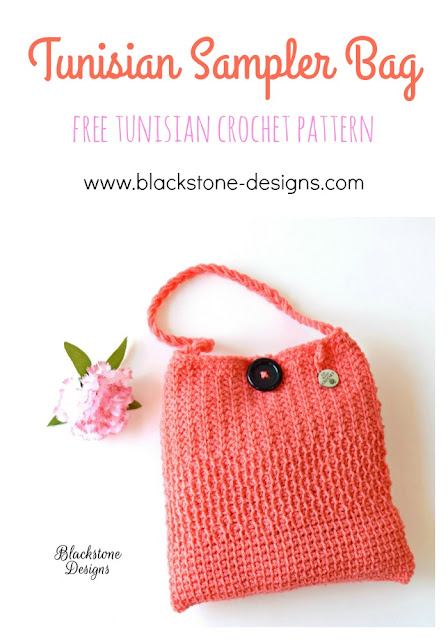Free Pattern for Tunisian Sampler Bag from Blackstone Designs