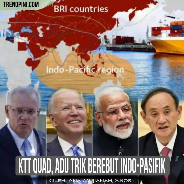 Meski dalam KTT virtual tersebut mereka tidak menyebutkan akan fokus membahas Republik Rakyat Tiongkok (RRT), tetapi jika melihat ketegangan yang terjadi antara negara-negara Quad dengan RRT, maka indikasi pembicaraannya tetap tidak keluar dari bagaimana mengantisipasi kekuatan China yang semakin ekspansif di Indo-Pasifik.
